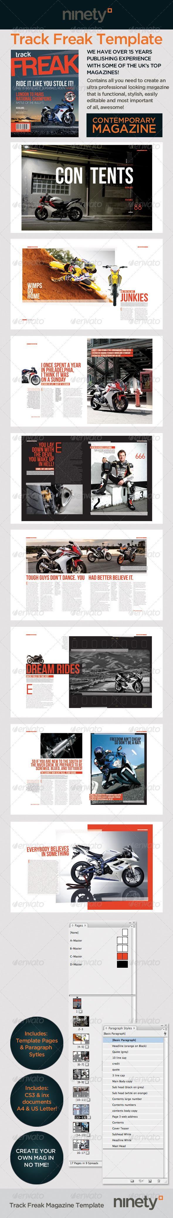 Track Freak Magazine Template - Magazines Print Templates