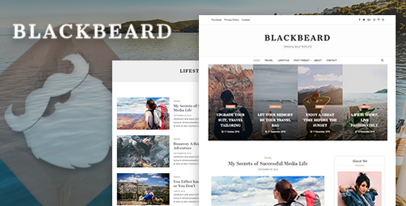 Blackbeard - Elegant Blog Template - Personal Site Templates
