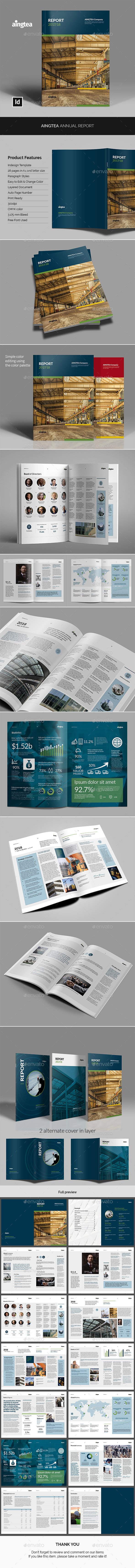 Aingtea Annual Report - Corporate Brochures