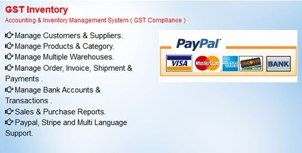 GST Inventory - Accounting & Inventory Management System(GST Compliance) Free Download | Nulled