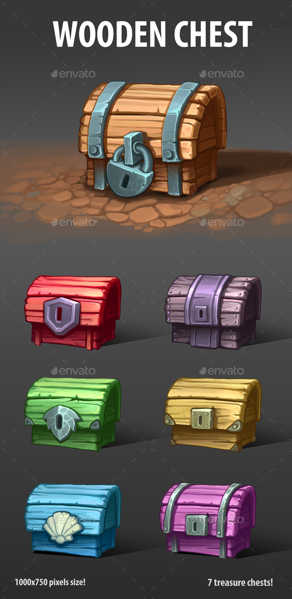 Wooden Chests - Miscellaneous Game Assets