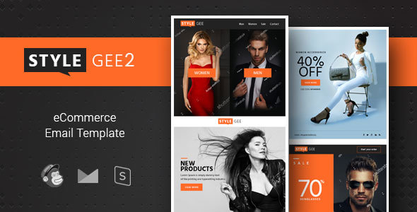 Stylegee 2 - Responsive Ecommerce & Shopping Email Template - Email Templates Marketing