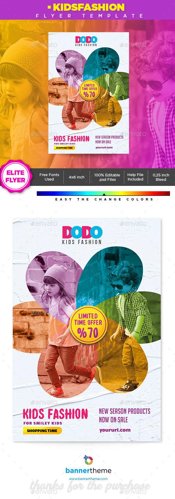 Fashion Kids Flyer - Flyers Print Templates