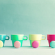 Pastel French Macaroons and tea cups - PhotoDune Item for Sale