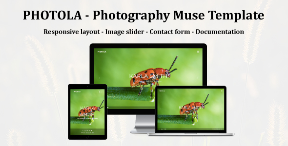 PHOTOLA - Photography Muse Template - Creative Muse Templates