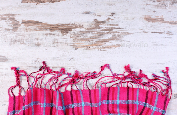 Colorful shawl with copy space for text - Stock Photo - Images