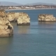 Aerial From Natural Rocks Near Lagos in the Algarve Portugal - VideoHive Item for Sale