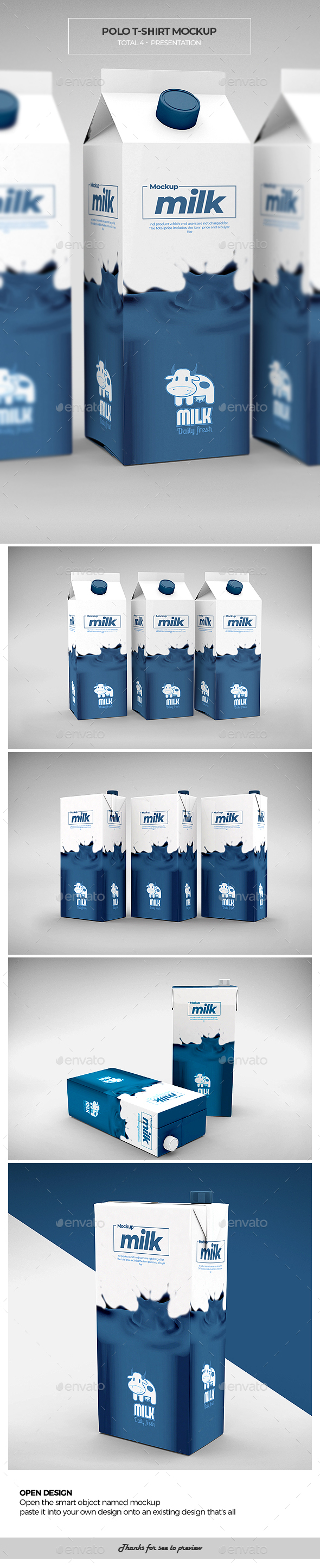 Milk Mock-up - Food and Drink Packaging