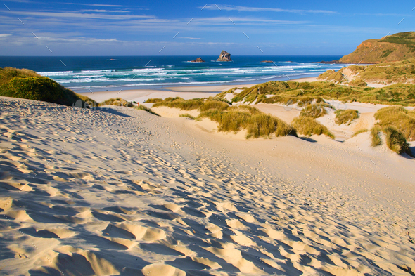 Inviting Beach and dunes - Stock Photo - Images
