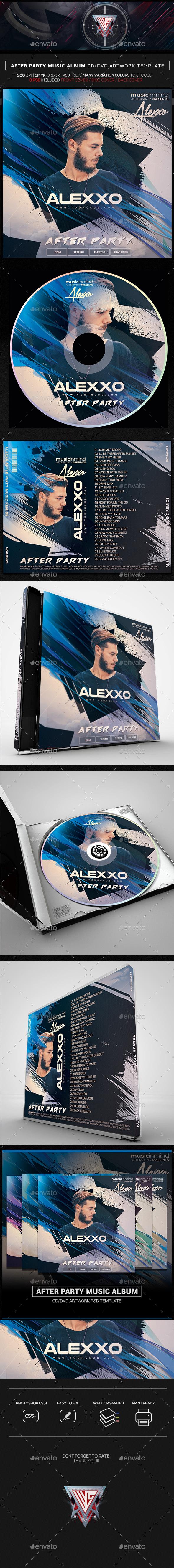 After Party Album Artwork CD/DVD Template - CD & DVD Artwork Print Templates