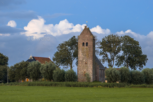 Church with tower - Stock Photo - Images