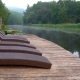 Chaise Longues on River - VideoHive Item for Sale