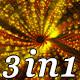 Golden Points - VJ Loop Pack (3in1) - VideoHive Item for Sale