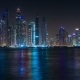 Beautiful View of Dubai Marina Towers, Night Skyline, View From Palm Jumeirah, United Arab - VideoHive Item for Sale