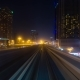 Night Journey on the Modern Rail Metro System, Running Alongside the Sheikh Zayed Road - VideoHive Item for Sale