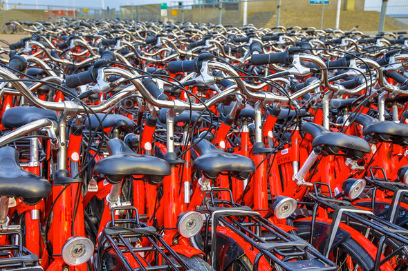 Rental bicycle parking - Stock Photo - Images