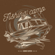 T-Shirt Label Design Fishing Camp - GraphicRiver Item for Sale