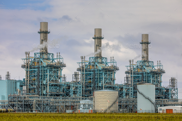 Modern multi fuel power plant - Stock Photo - Images