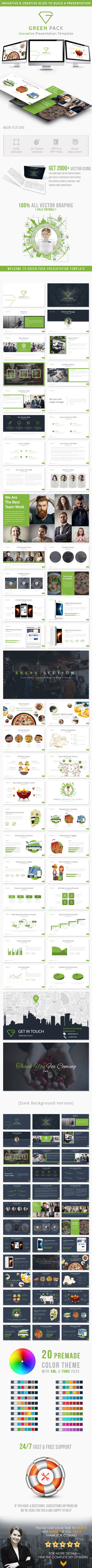Green Pack Inovative Presentation Template - Abstract PowerPoint Templates