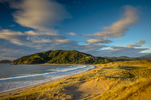 Beautiful Waikawau Bay Sunrise New Zealand - Stock Photo - Images