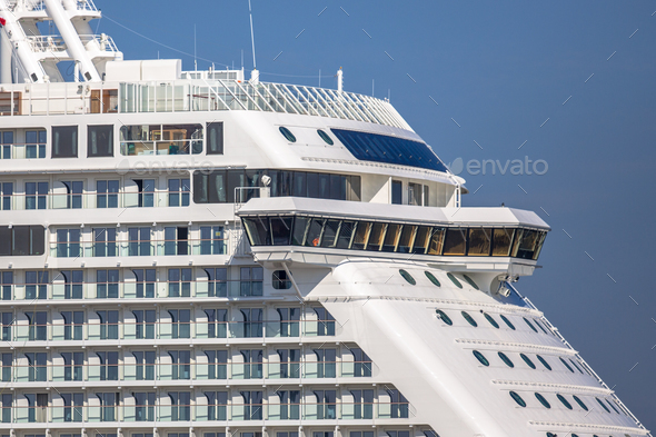 Detail of cruise ship - Stock Photo - Images