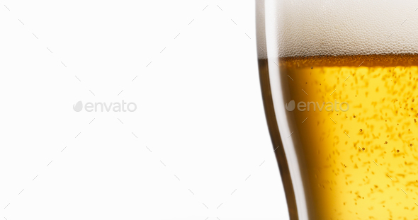 Celebration Concept With Cold Beer Pouring Into Glass - Stock Photo - Images