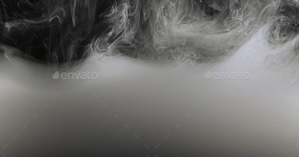 Concept Art White Paint In Water As Smoke In Slowmotion - Stock Photo - Images