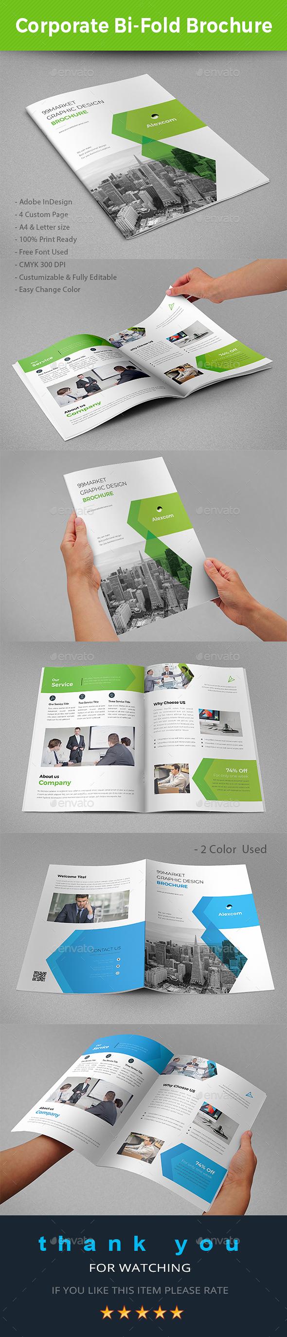 Bi-Fold Brochure Template - Brochures Print Templates