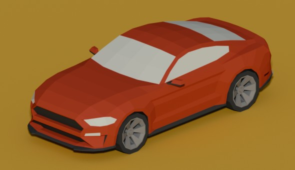 Lowpoly Ford Mustang GT - 3DOcean Item for Sale