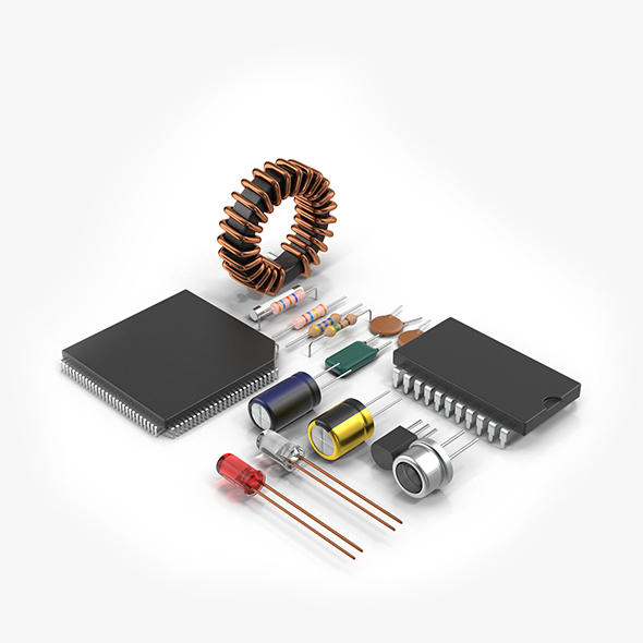 Radio Components - 3DOcean Item for Sale