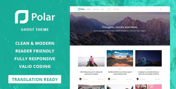 Polar - Minimal Blog and Magazine Ghost Theme