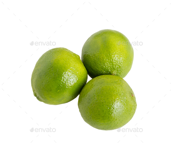 Closeup of fresh limes. - Stock Photo - Images