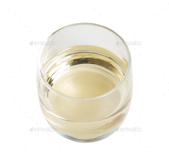 Glass of white wine. - Stock Photo - Images