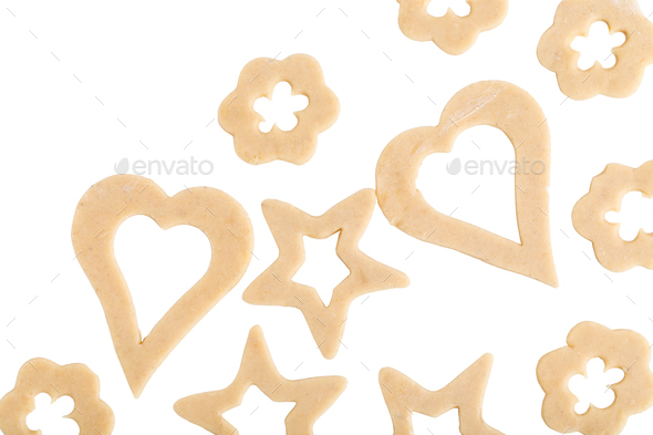 Raw cookies with various form. - Stock Photo - Images