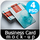 Realistic Business Card Mock-up Bundle