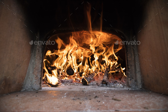 Fire and flames of wood - Stock Photo - Images