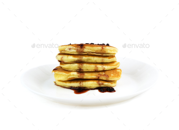american pancakes isolated - Stock Photo - Images