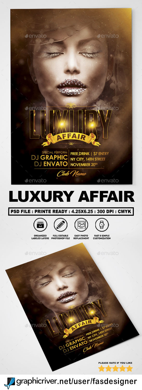 Luxury Affair Flyer - Clubs & Parties Events