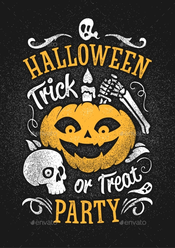 Halloween Party Poster - Backgrounds Decorative
