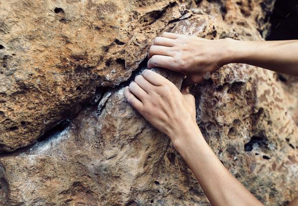 Rock climbing - Stock Photo - Images