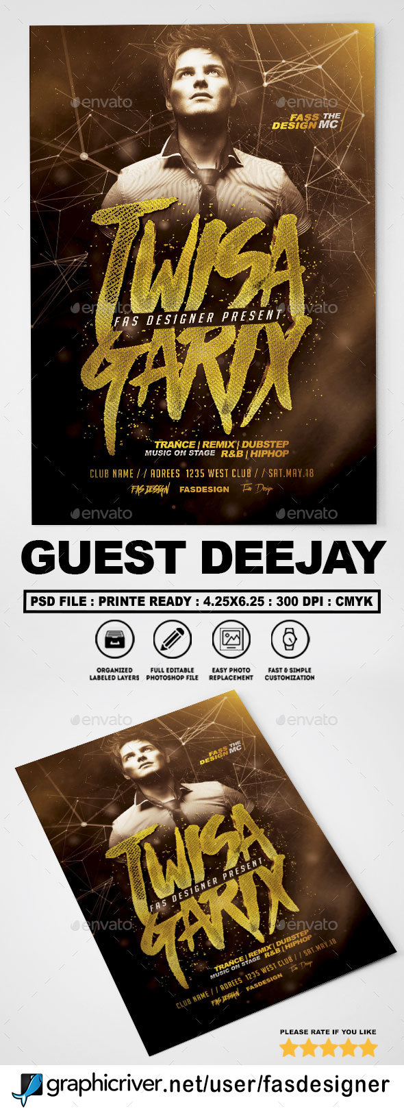 Guest Deejay v2 Flyer - Clubs & Parties Events