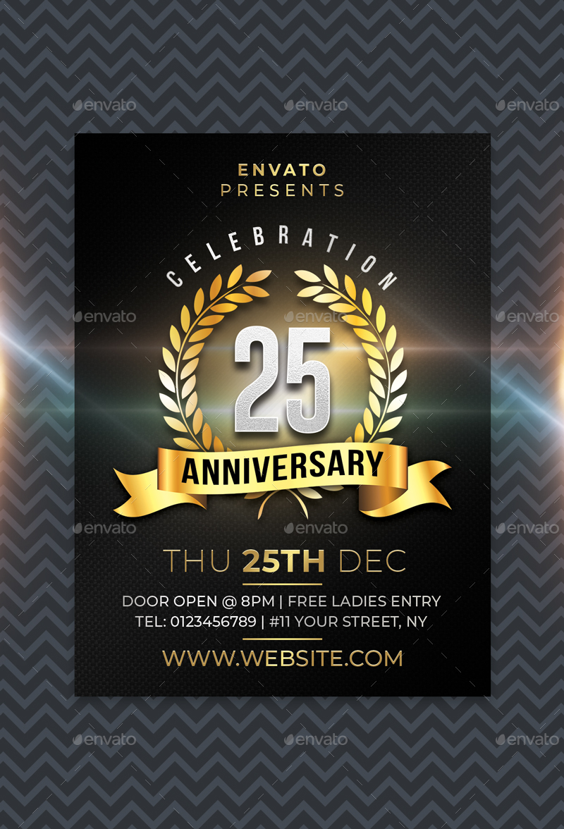 Anniversary Flyer by sunilpatilin | GraphicRiver