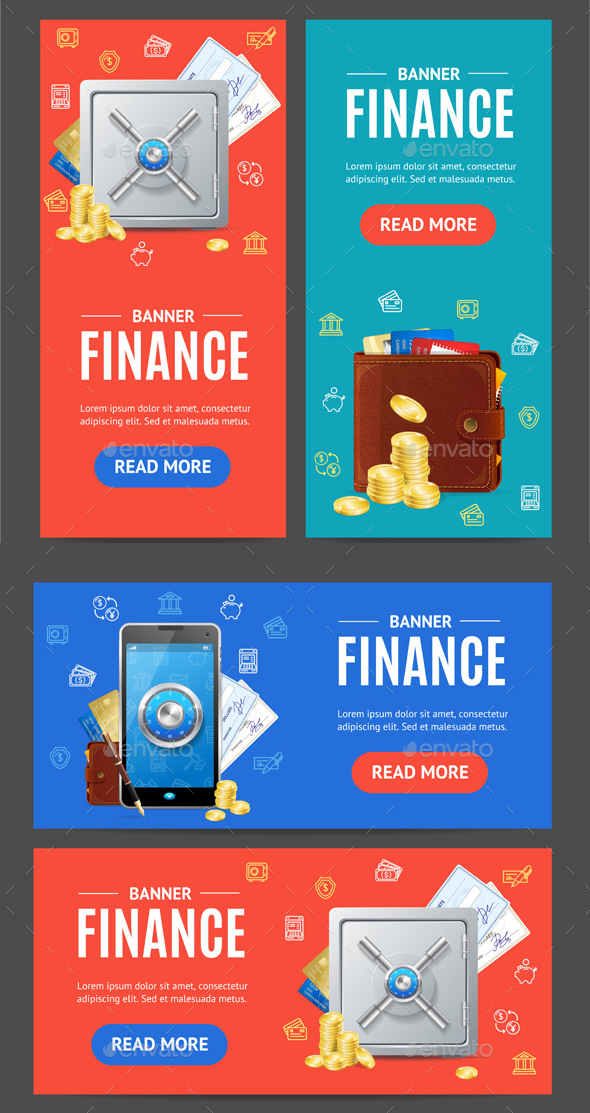 Finance Banner Set - Concepts Business