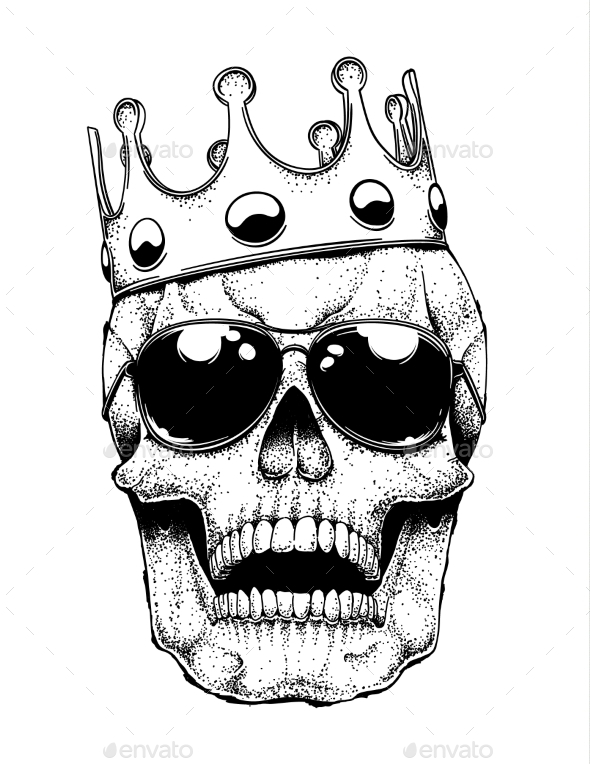 Skull in a Crown - Miscellaneous Vectors