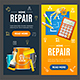 Home Repair Service Banner Set - GraphicRiver Item for Sale
