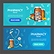 Pharmacy Banner Horizontal Set - GraphicRiver Item for Sale