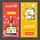 Startup Banner Set. Vector - GraphicRiver Item for Sale