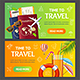 Summer Travel and Tourism Service Banner Set - GraphicRiver Item for Sale