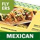 Mexican Restaurant Menu Flyers 2 – 4 Options