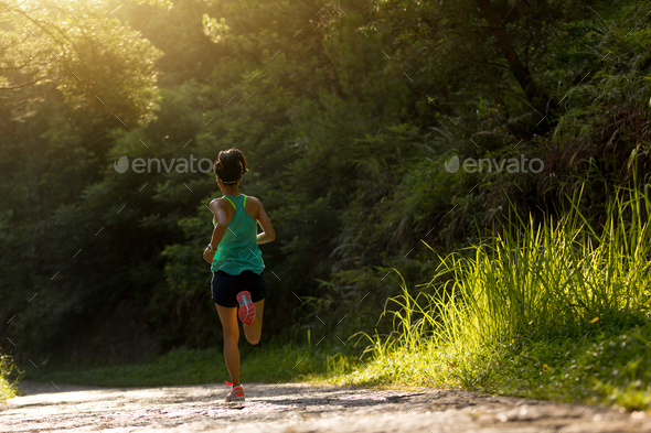 Morning exercise running - Stock Photo - Images